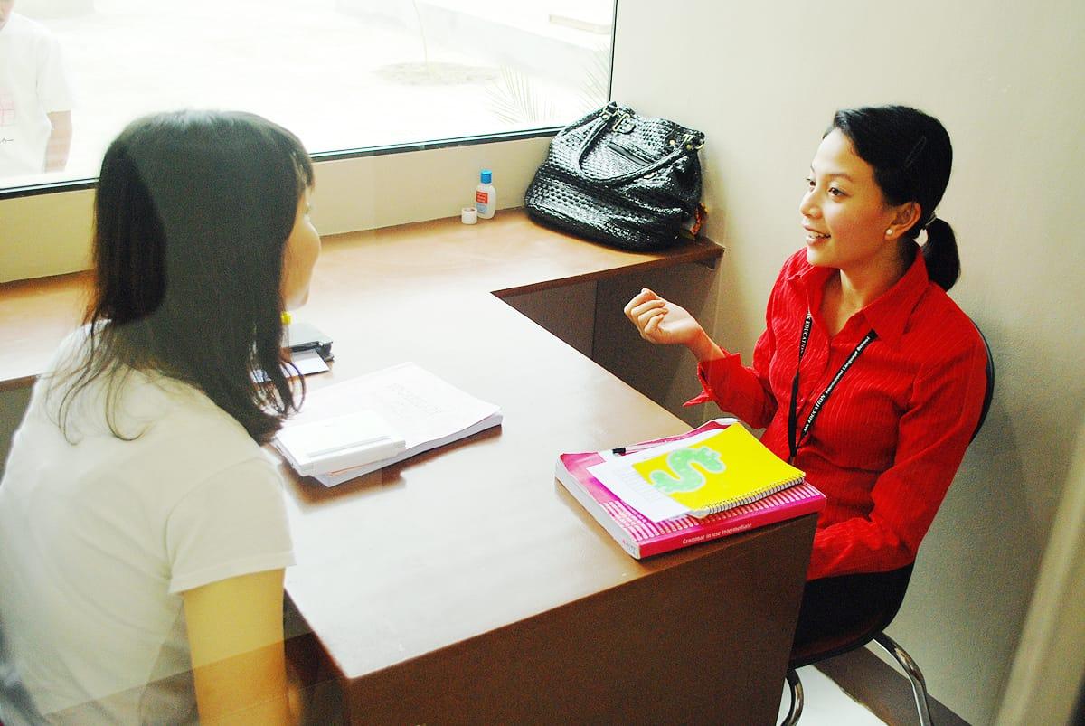 mk어학원 수업 모습